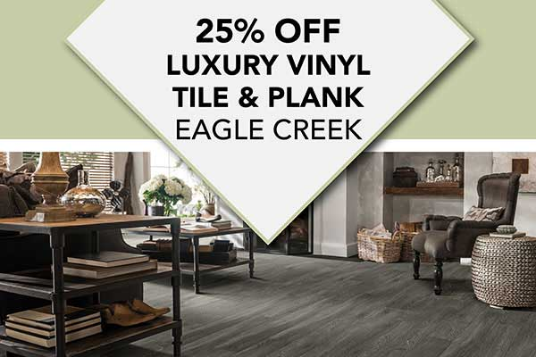 Save 25% off Eagle Creek LVT & LVP Flooring at Albertson's Abbey Carpet in Benicia