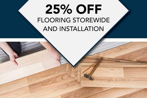 Save 25% off storewide & Installation Flooring at Albertson's Abbey Carpet in Benicia